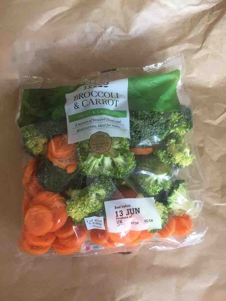 Broccoli and carrot pack