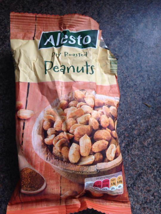 Dry roasted peanuts. 3/4 bag