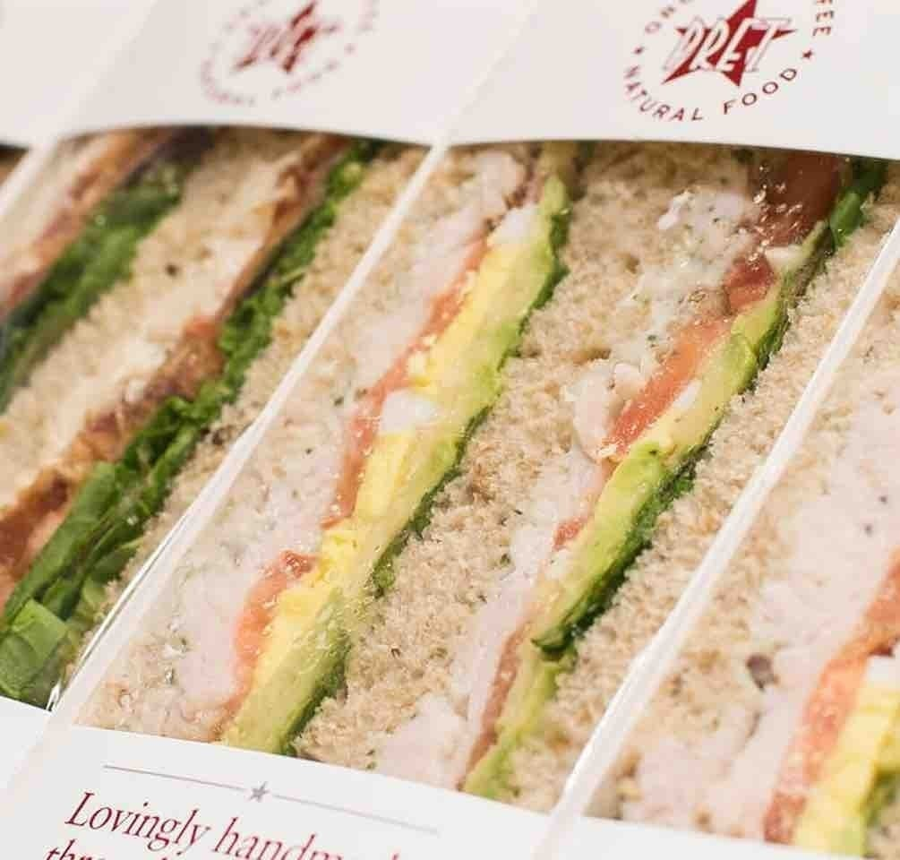 Pret salmon and cheese sandwich