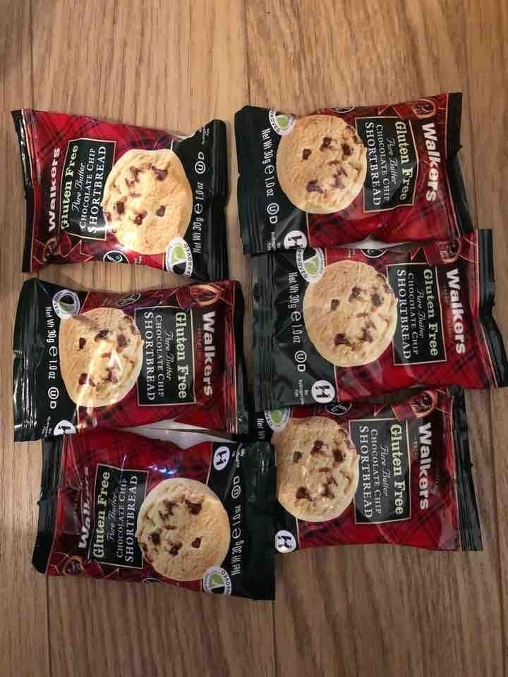 Gluten free shortbread choc chip cookies