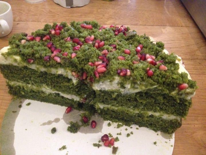 Half a spinach cake