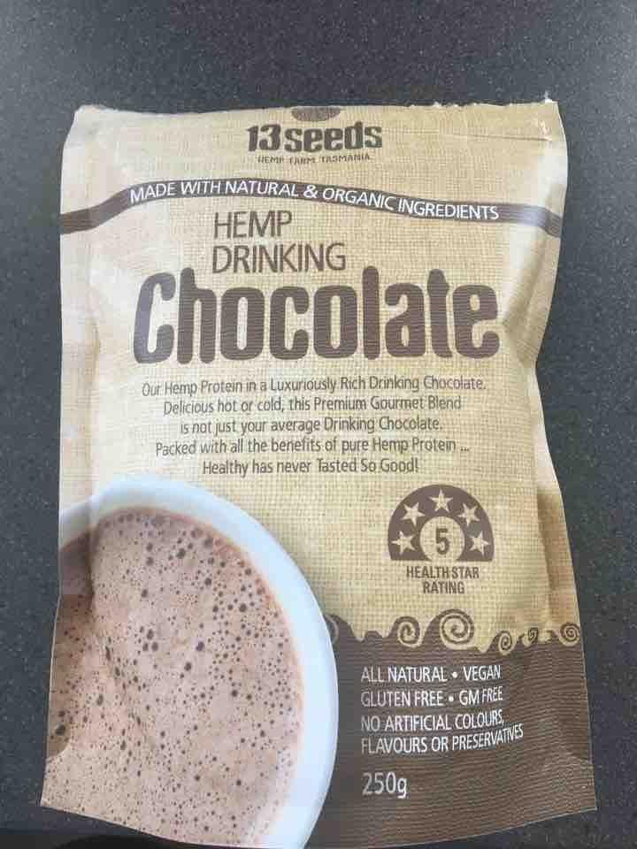 Hemp drinking chocolate powder