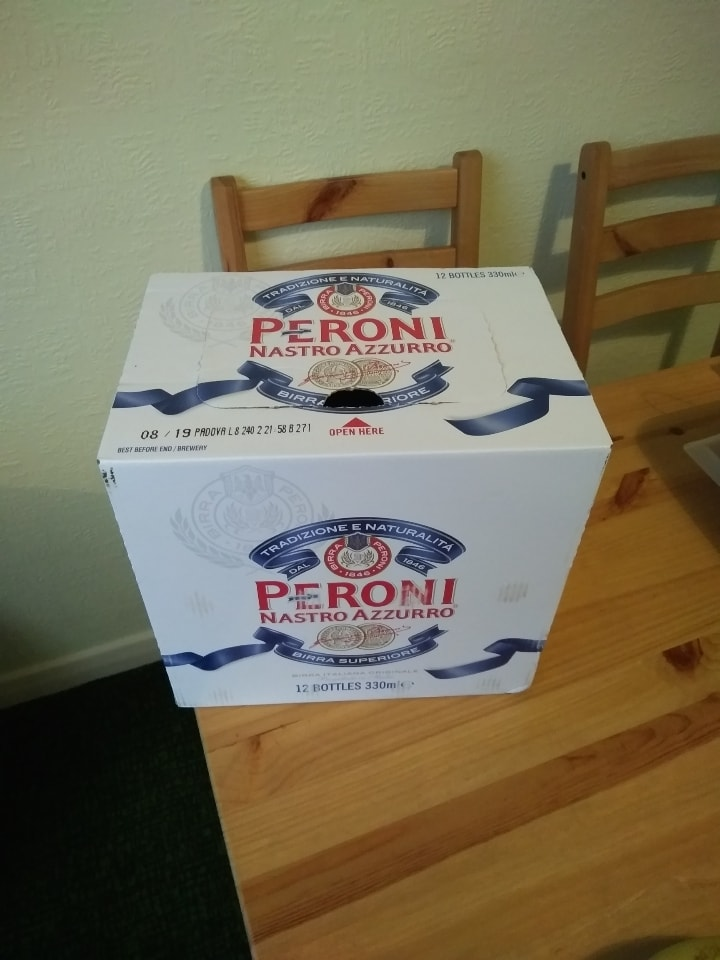 Pack of 12 bottles of Peroni