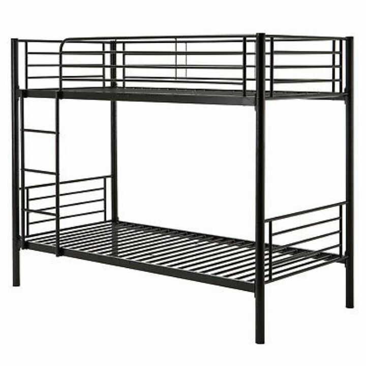 3ft Black Metal Bunk Bed