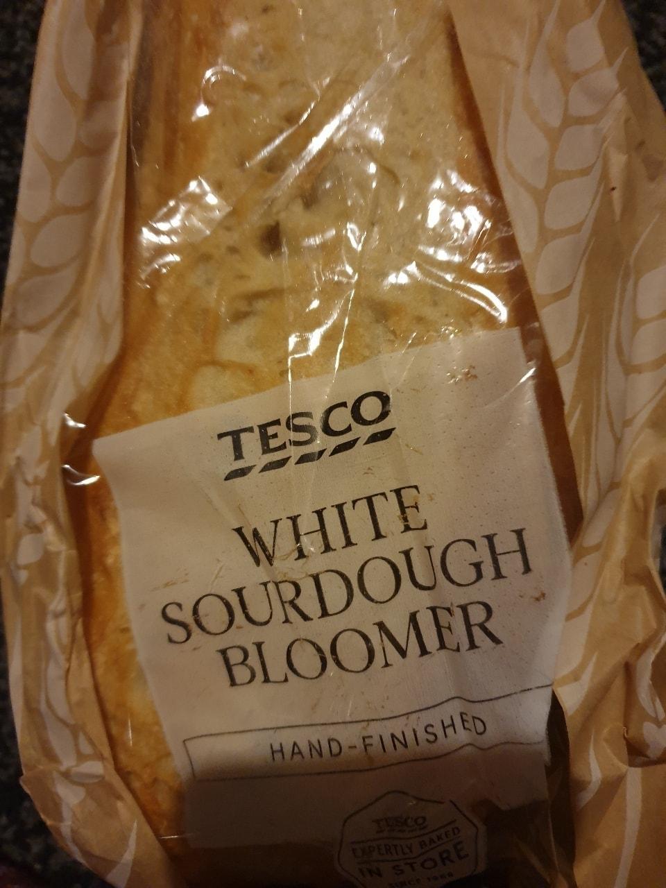 White sourdough bloomer