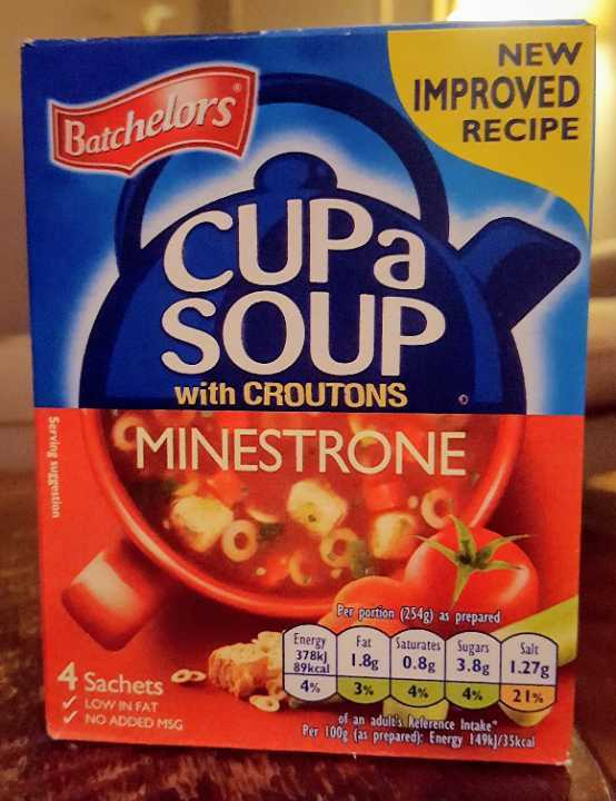 Cup a soup (minestrone)