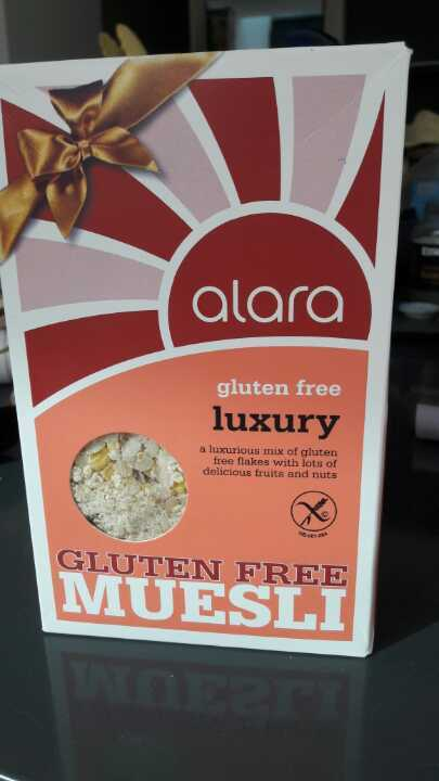 Gluten free muesli- open packet