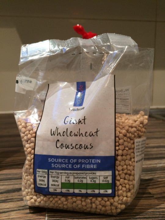 Wholewheat giant couscous