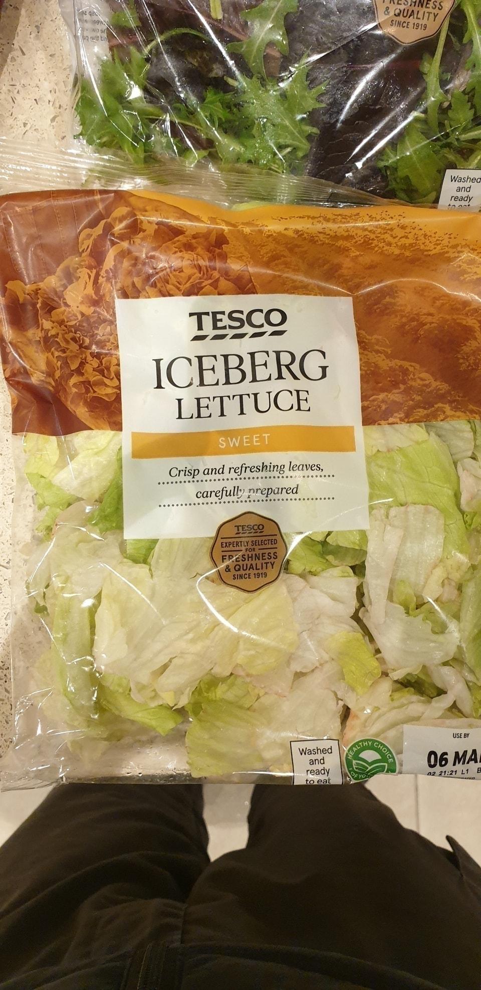 Iceberg lettuce (tesco rescue)