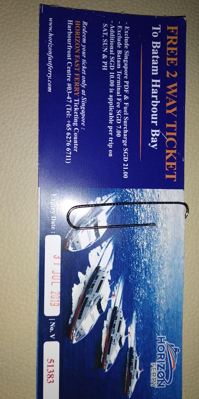 Tickets to Batam