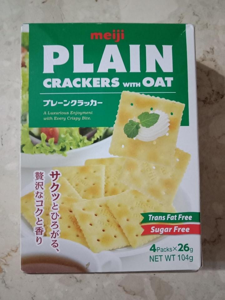 Meiji Plain Crackers with Oat