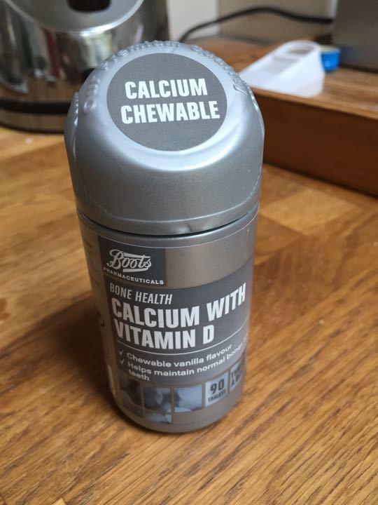 Calcium tablets, almost full