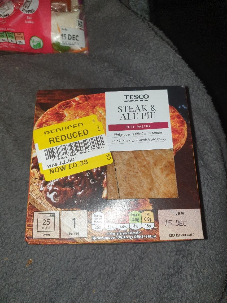 Tesco steak and ale pie - OLIO