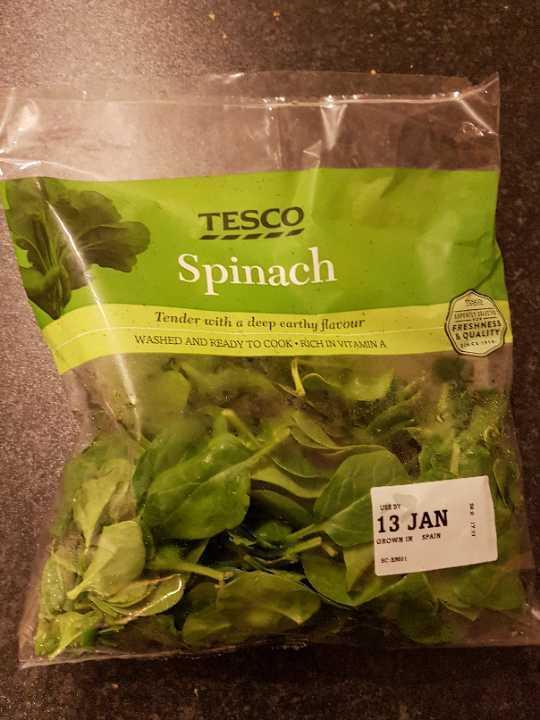 Open bag of spinach still good