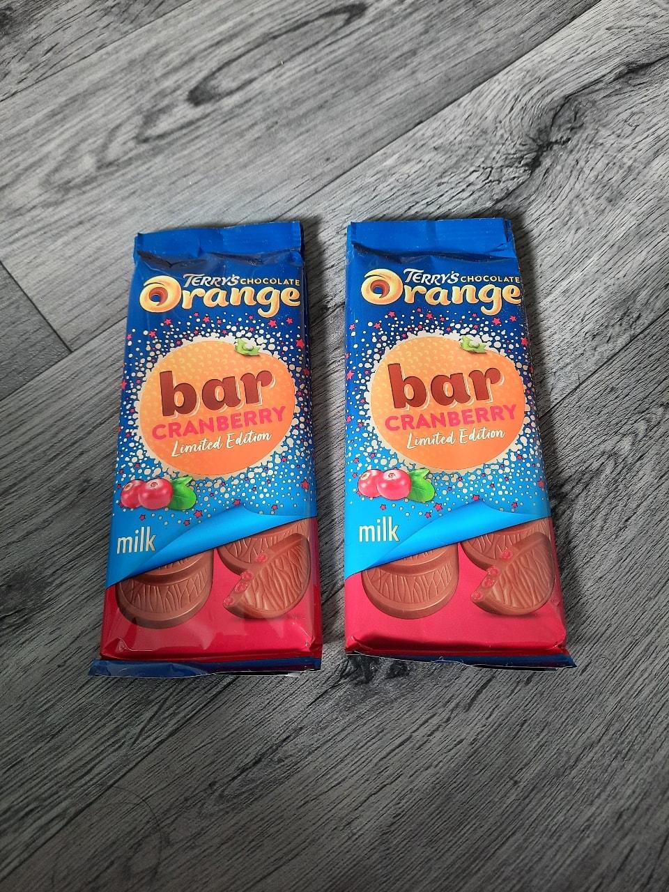 x2 Terry's Chocolate Orange Cranberry Bars