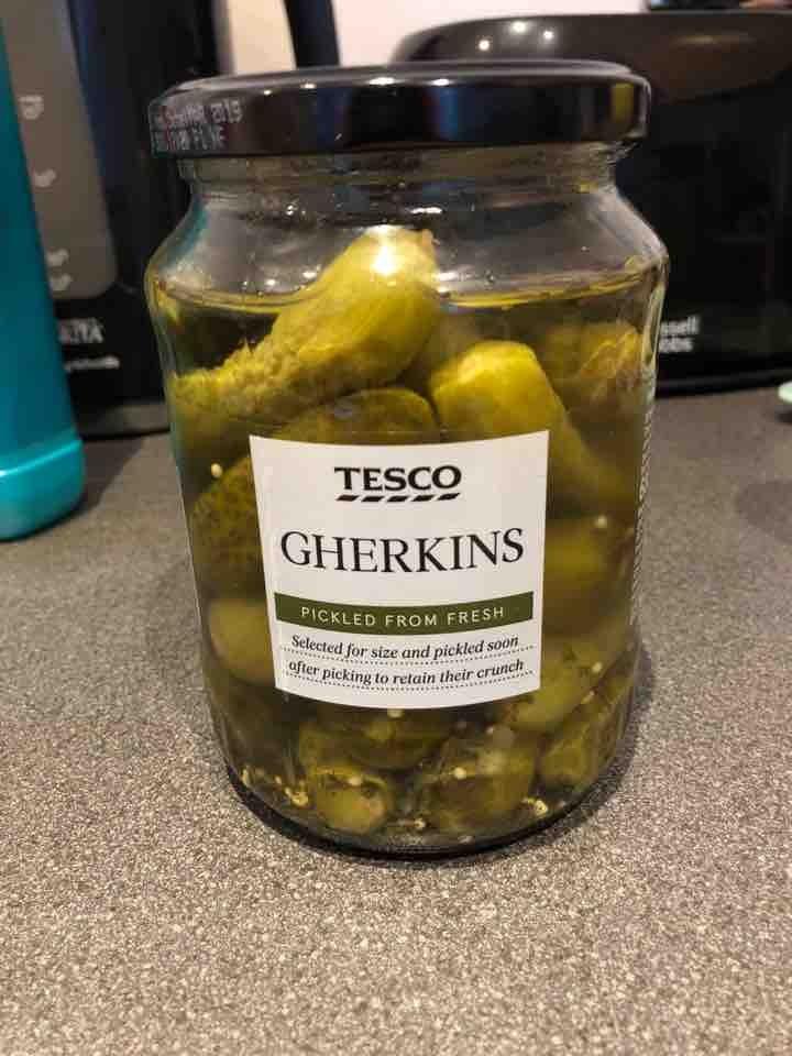 Tesco gherkins - opened a week ago