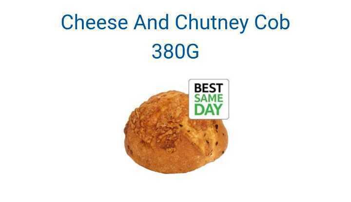 Tesco cheese and chutney cob x4