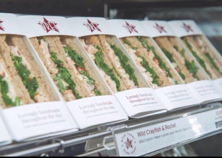 Smoked Salmon Pret Sandwich