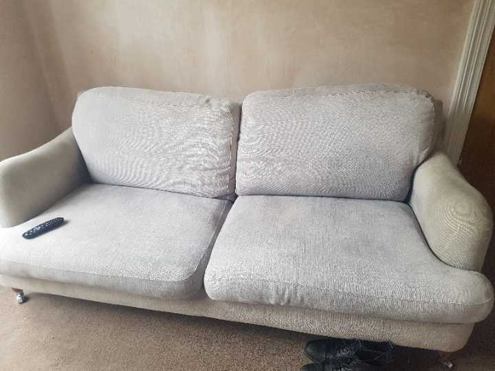 2 next sofas - light grey