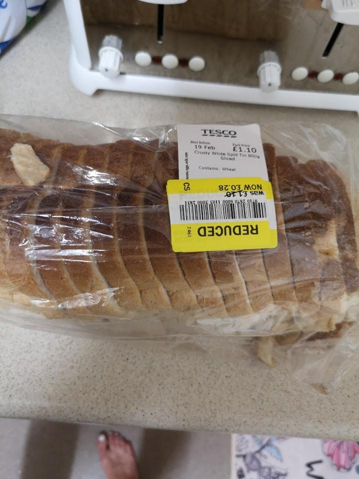 White crusty bread loaf