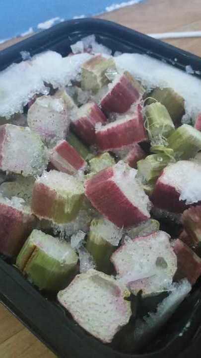 Frozen organic rhubarb