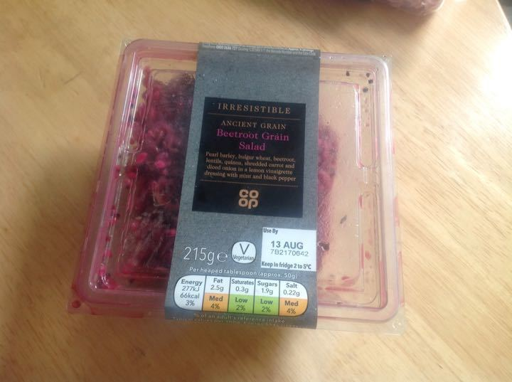 Beetroot grains salad