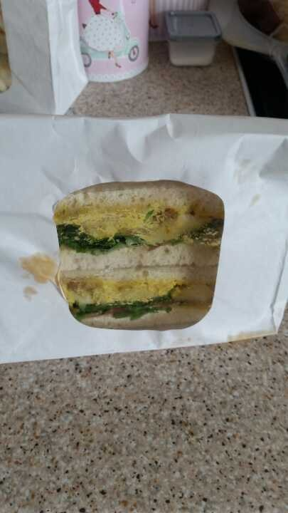 Coronation chicken sandwich