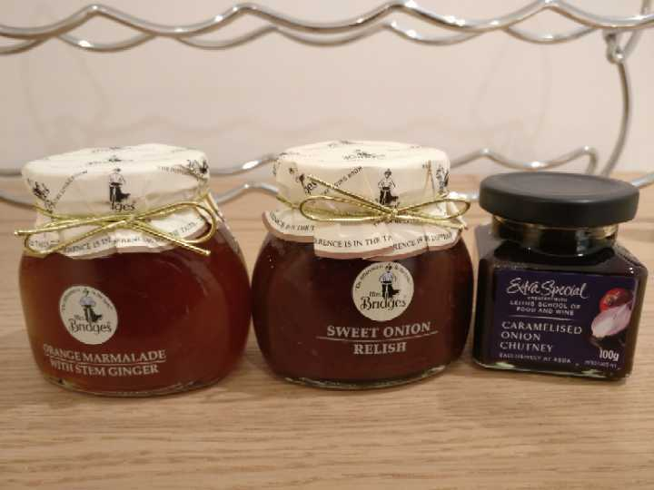 Christmas Orange Marmalade, Onion Chutney, Onion Relish