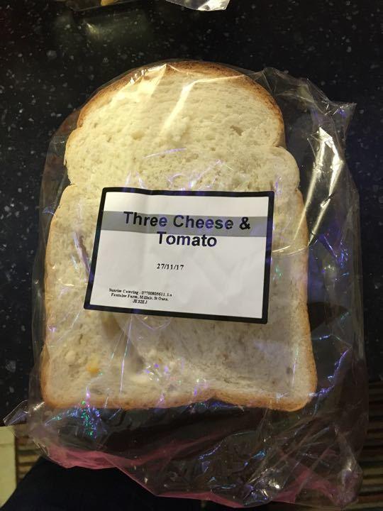 Three cheese and tomato sandwich