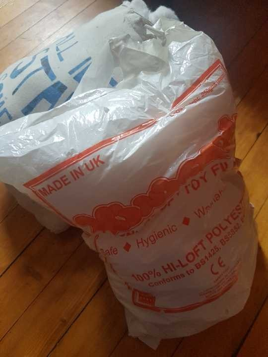 Two bags of toy filling