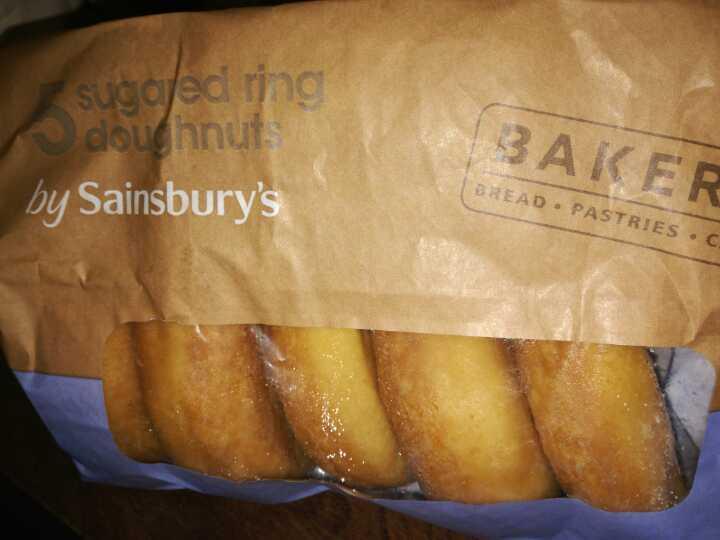 Sugared ring doughnuts