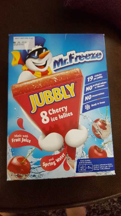 Cherry Jubbly Ice Lollies x 2 boxes