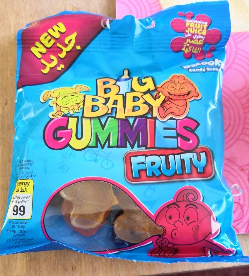 Halal Big baby gummies, fruity flavours by Bazooka Candy