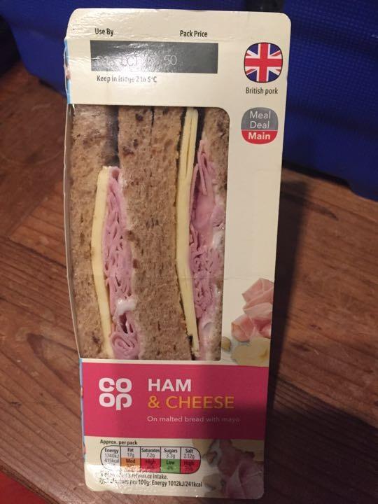 Ham and cheese sandwich