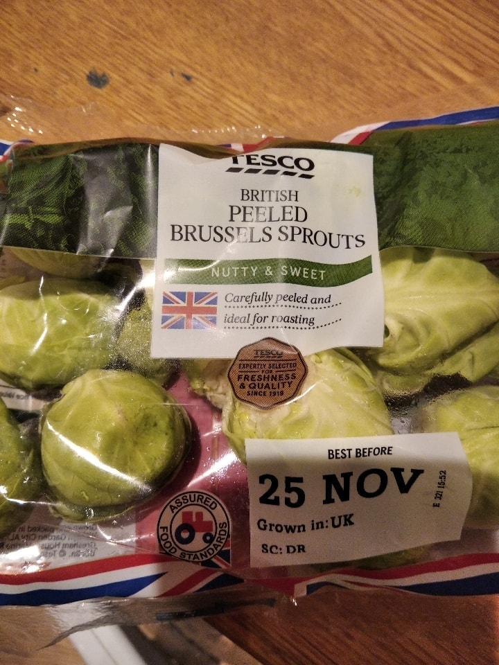 Peeled brussel sprouts