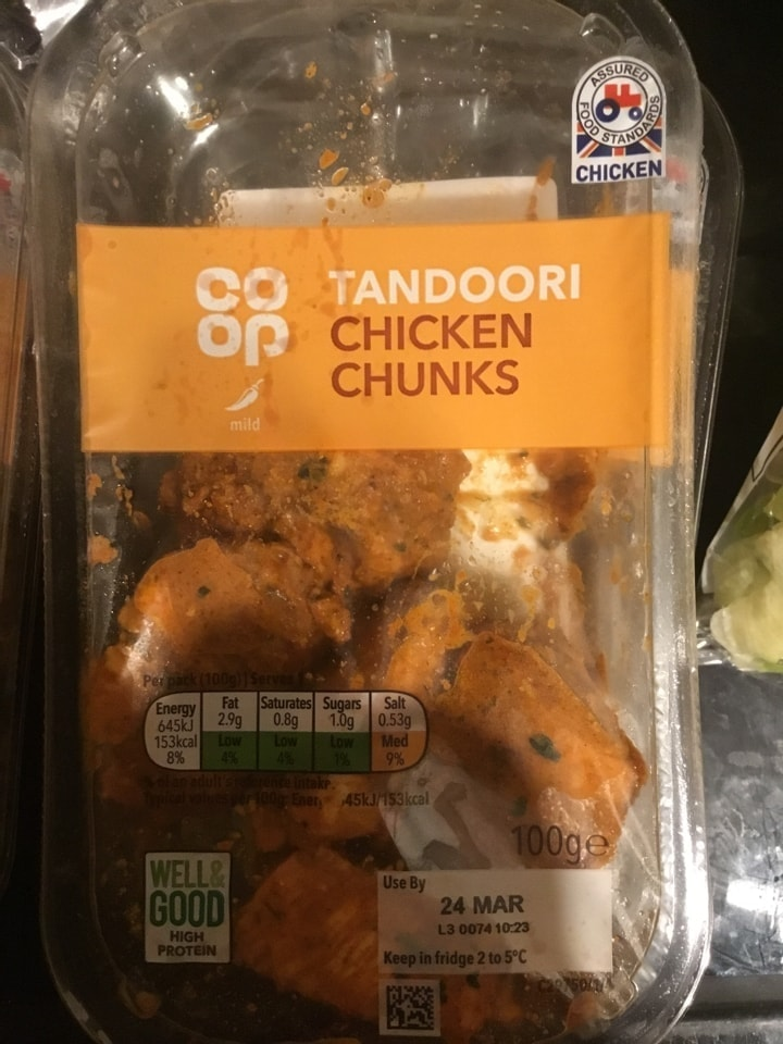 Tandori chicken chunks