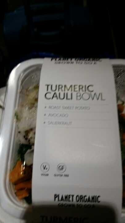 Turmeric Cauli bowl