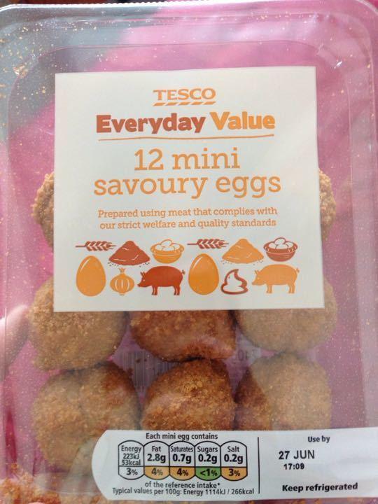 Unopened savoury eggs