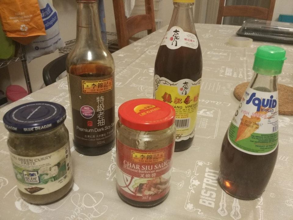 Diverse sauces