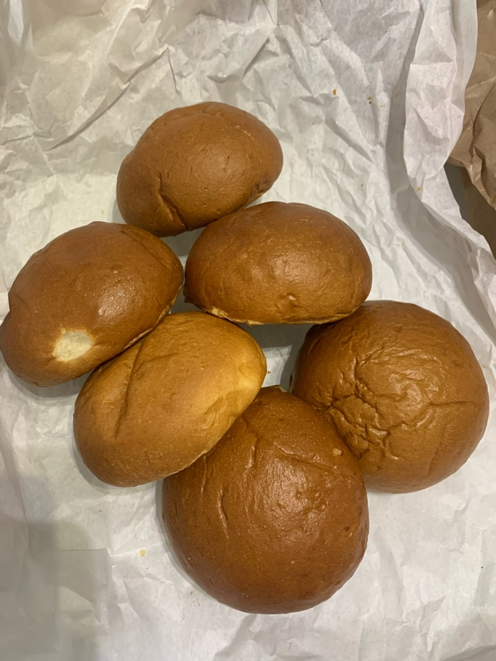 Brioche buns from the Flour Pot bakery