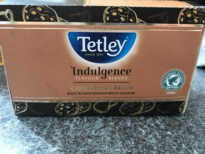 Tetley Indulgence Cookies & Cream tea bags