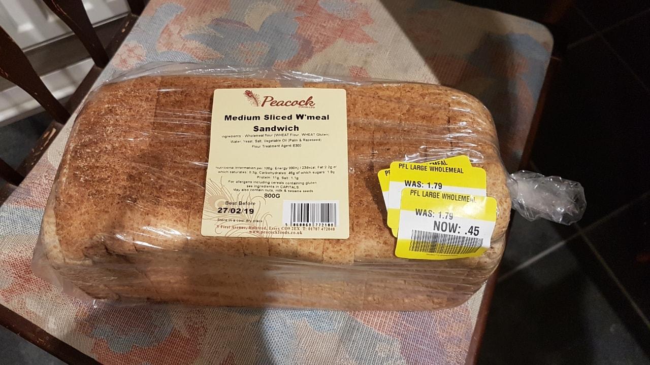Medium sliced Wholemeal Sandwich loaf
