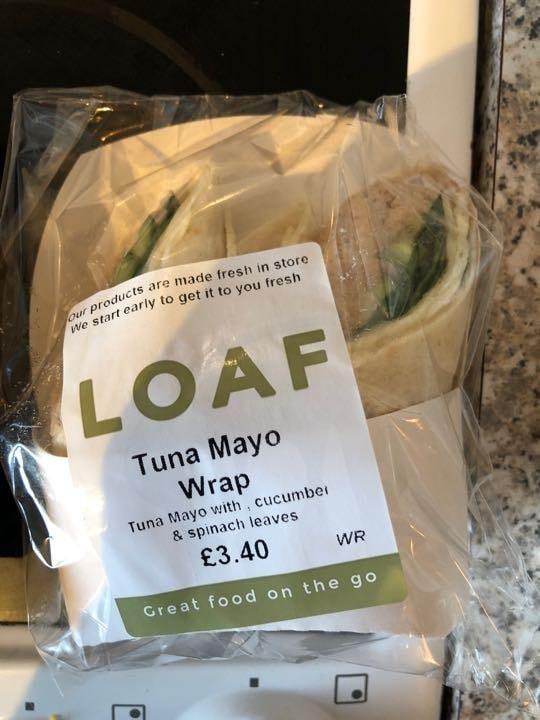 Tuna mayo wrap from loaf