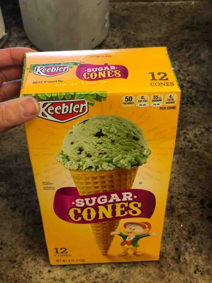 Unopened sugar cones
