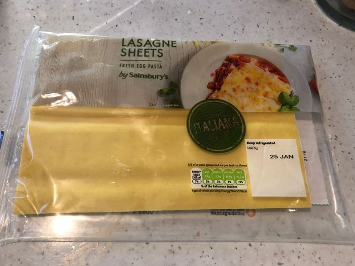 Fresh egg pasta sheets - 4 in pack