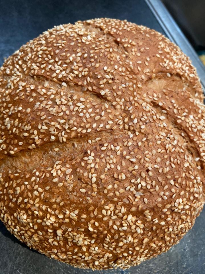 🥳 Round sesame seed loaf 🥳