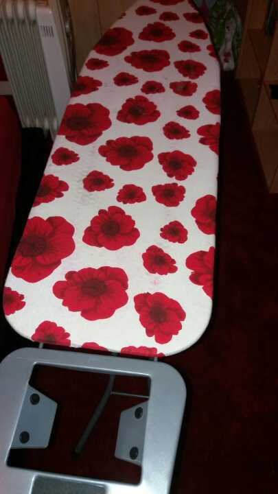 Ironing board with floral colour