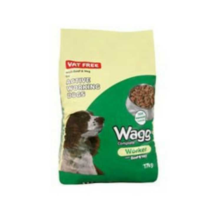 17kg bag of Wagg dog food.
