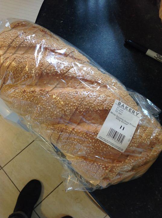 White sesame seed bloom bread 800g