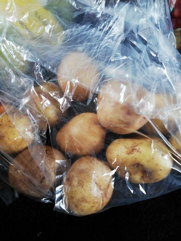 Bag of loose potatoes